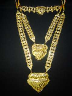 India Jewelry Jodha Akbar Gold Bridal Necklace set 9 Pcs ~ Free Bindis