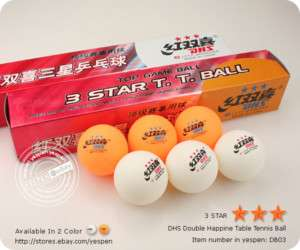 12PCS DHS 3 Star Table Tennis Ping Pong Balls C.T.T.A