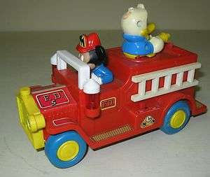 COLLECTIBLE ILLCO MICKEY MOUSE DONALD DUCK FIRE TRUCK TOY