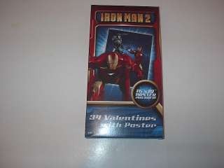 MARVEL HEROES IRON MAN 2 34 VALENTINE CARDS 2010 L@@K