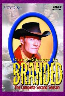 BRANDED 2 SECOND SEASON DVD New Chuck Connors Western