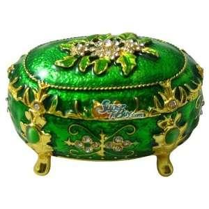 Box w/ 3 Feet   Jewelry Trinket Box Swarovski Crystal (JF1091) Home