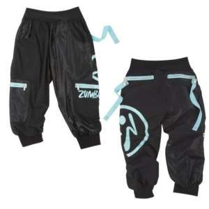 Zumba Wonder Cargo Capri BLACK New Fast Shipping